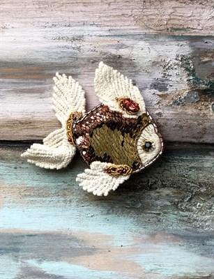 """Брошь """"Золотая рыбка"""" - фото 4638"""
