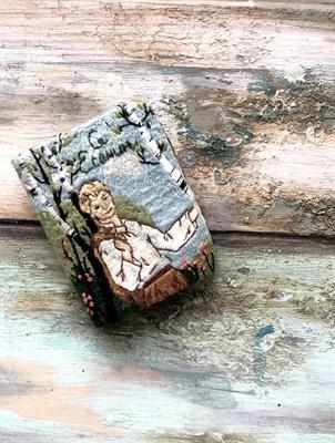 "Брошь ""Книжка-Есенин"" - фото 4669"