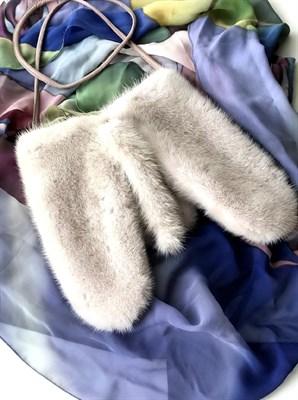 Варежки из белой норки - фото 4692