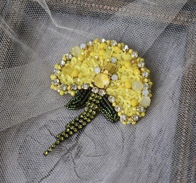 "Брошь ""Желтый одуванчик"" - фото 4799"