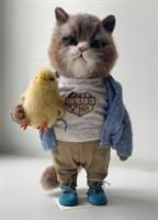 Кот с цыпой